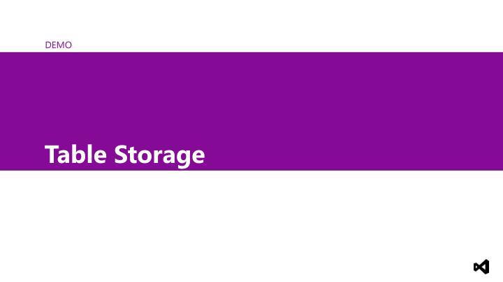 Table Storage