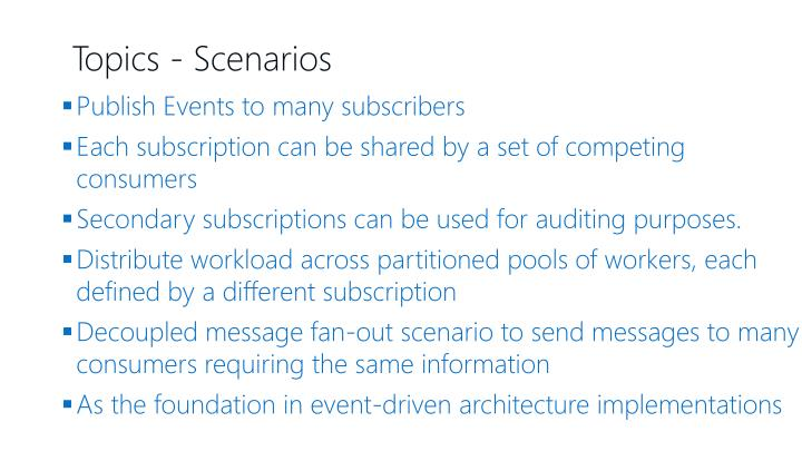 Publish Events to many subscribers