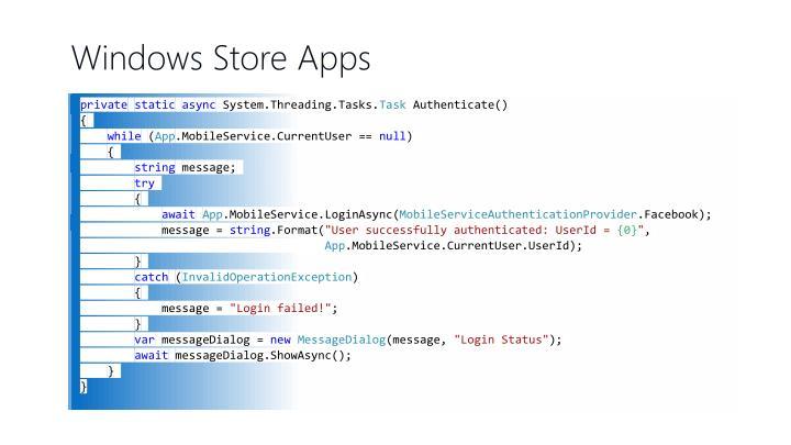Windows Store Apps