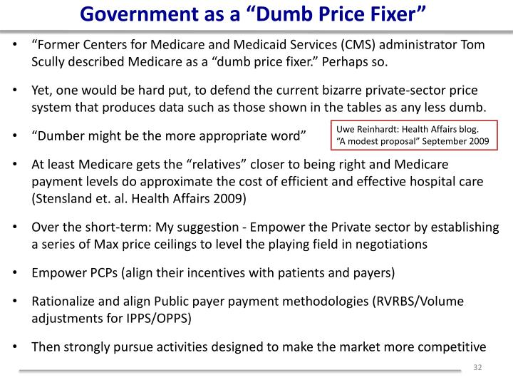 """Government as a """"Dumb Price Fixer"""""""