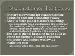 standardization positioning
