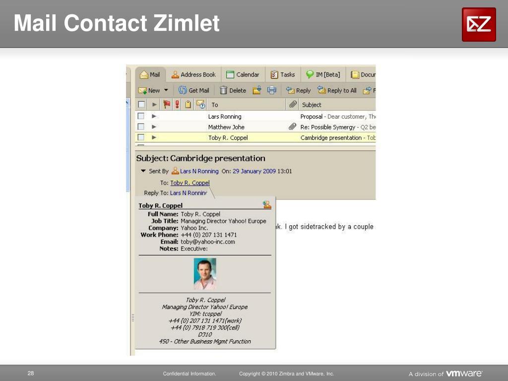 PPT - Zimbra PowerPoint Presentation - ID:1696245