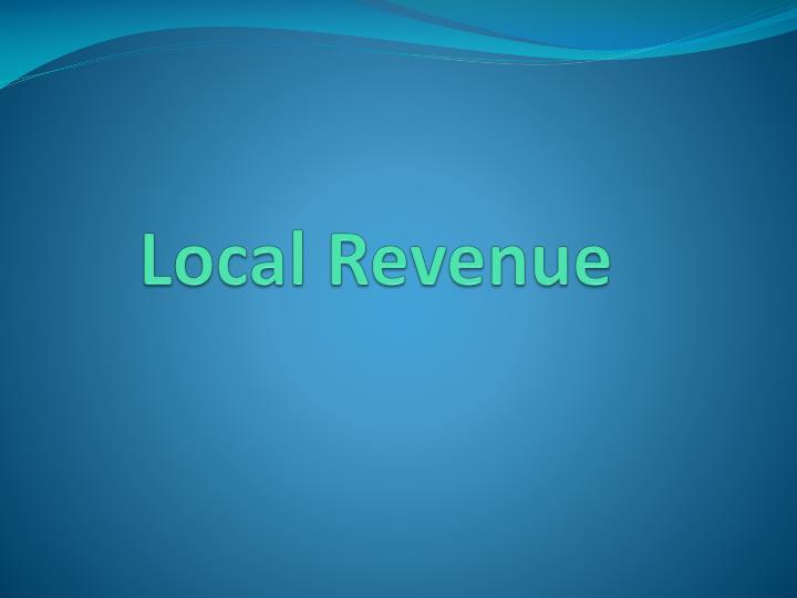 Local Revenue
