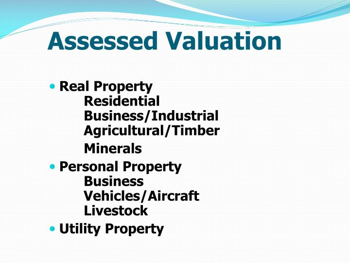 Assessed Valuation