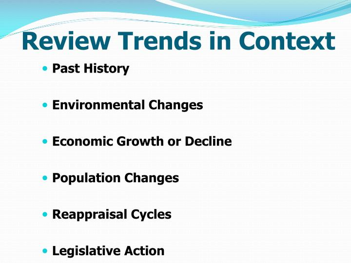 Review Trends in Context