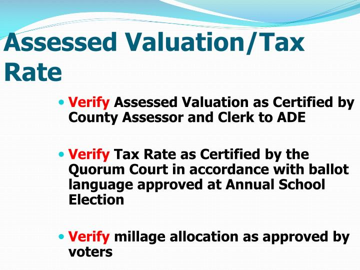 Assessed Valuation/Tax Rate