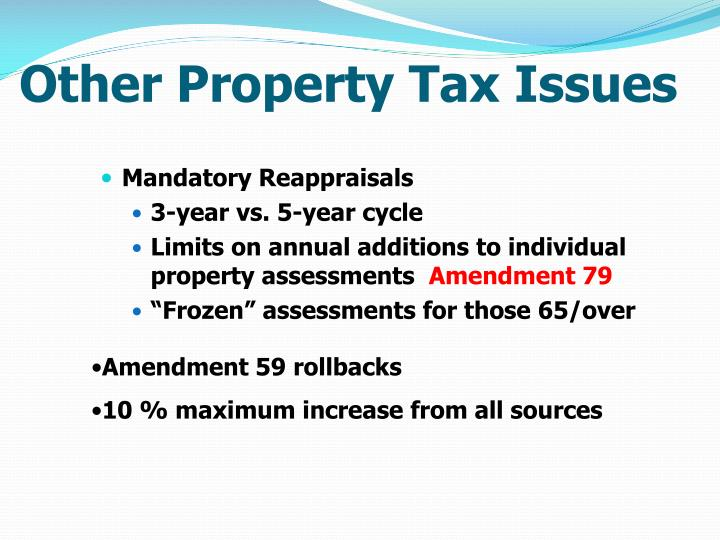 Other Property Tax Issues
