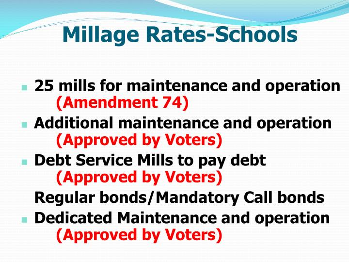 Millage Rates-Schools