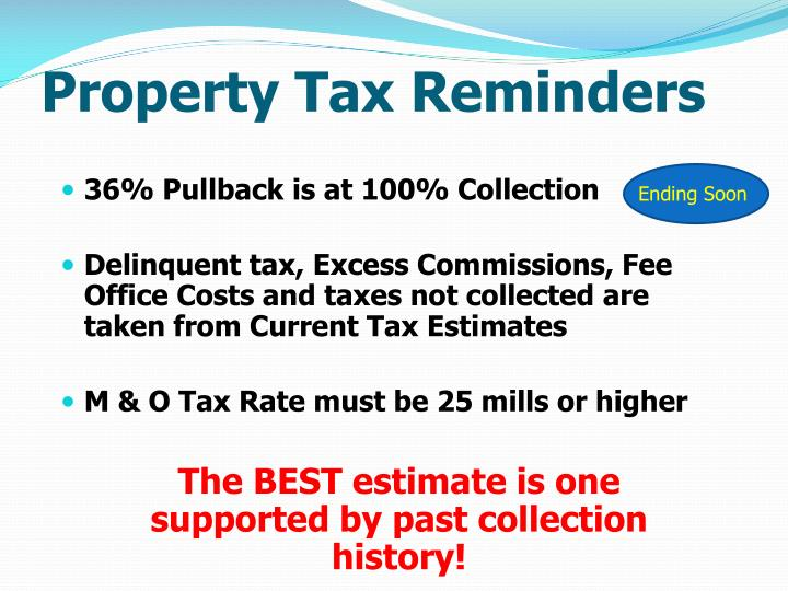 Property Tax Reminders