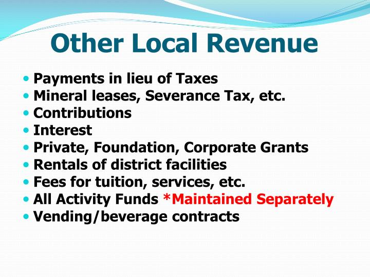 Other Local Revenue