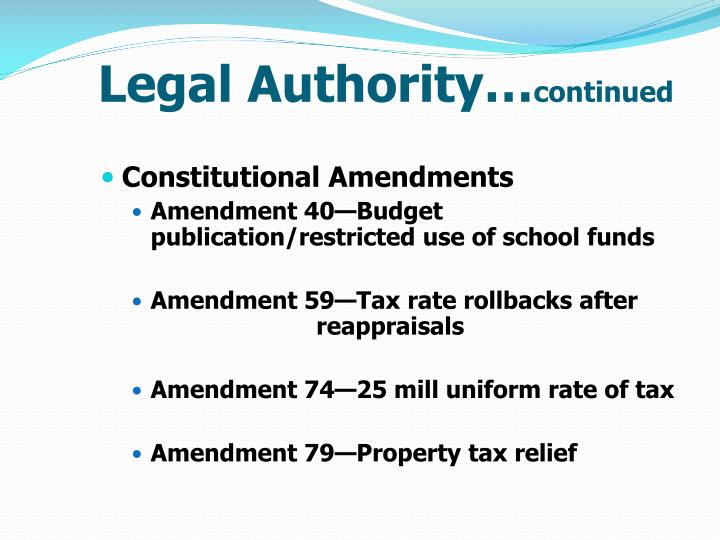 Legal Authority…