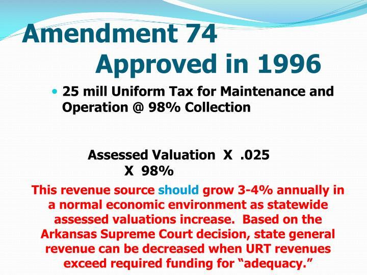 Amendment 74