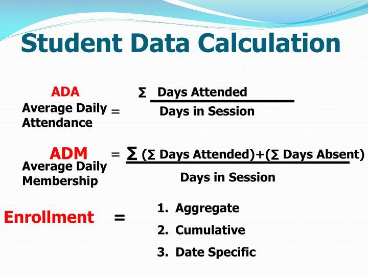 Student Data Calculation