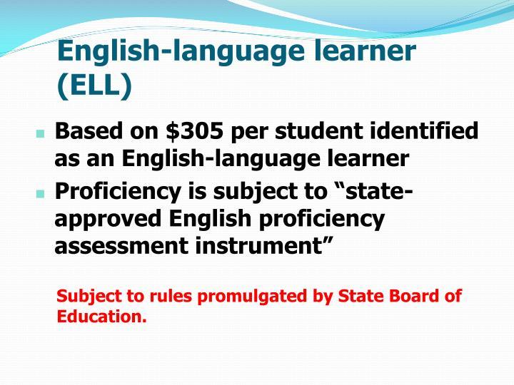 English-language learner