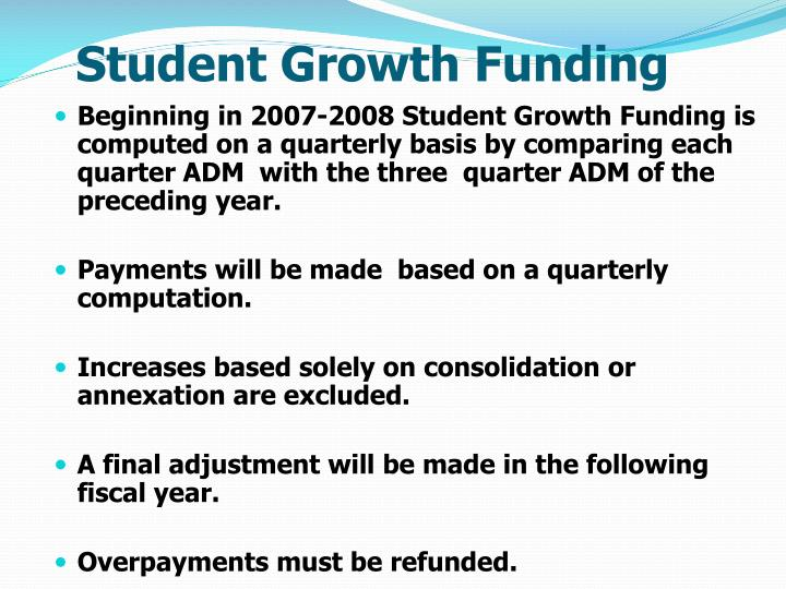 Student Growth Funding