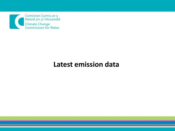 Latest emission data