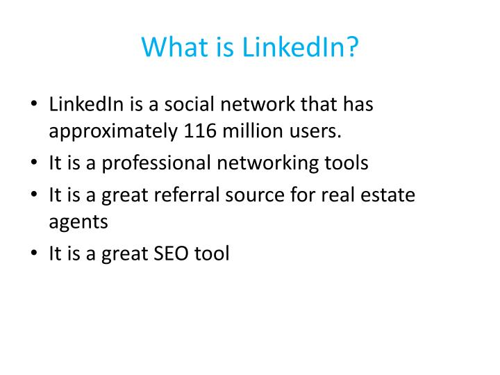 What is linkedin