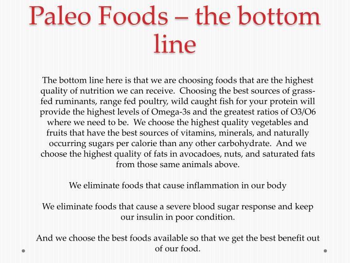 Paleo Foods –