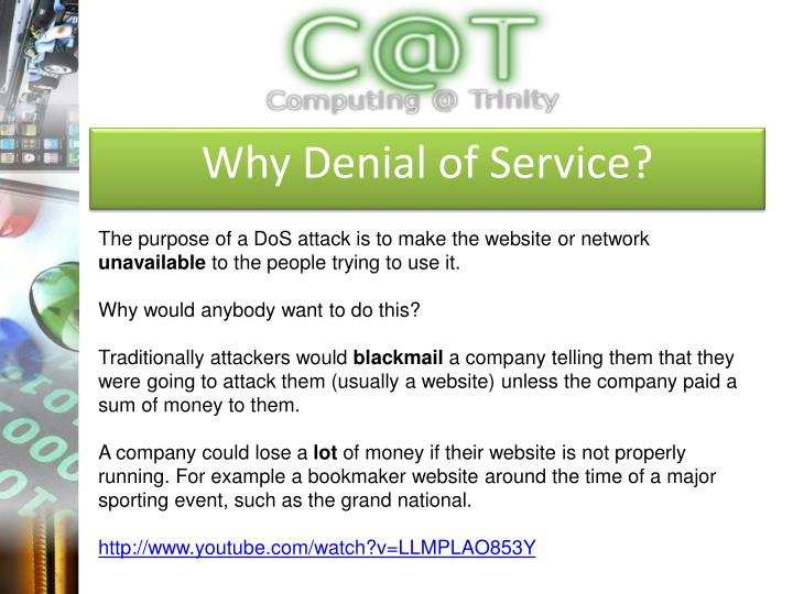 Why Denial of Service?