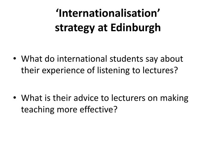 'Internationalisation'