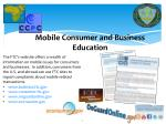 mobile consumer and business education