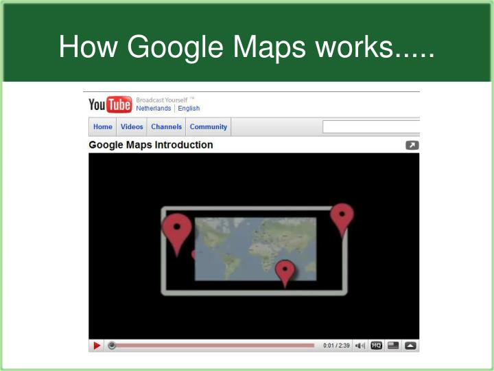 How Google Maps works.....