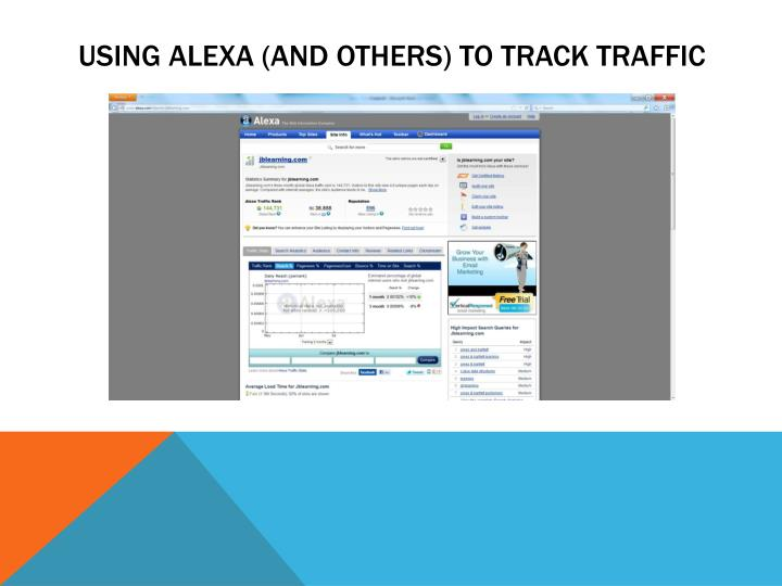 Using alexa and others to track traffic