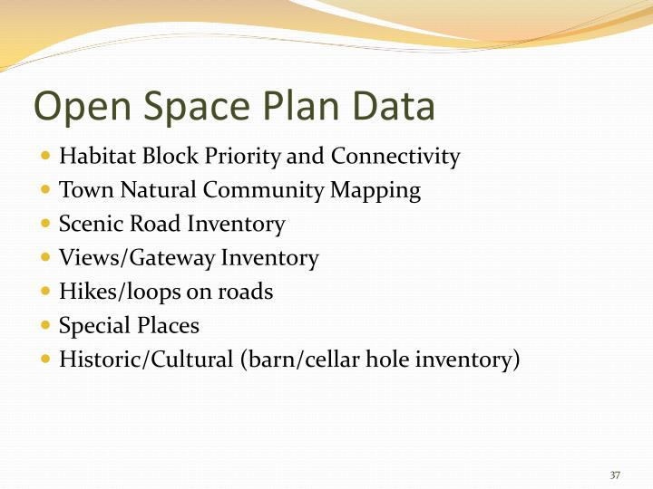 Open Space Plan Data