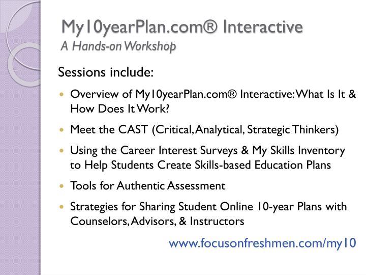 My10yearPlan.com® Interactive