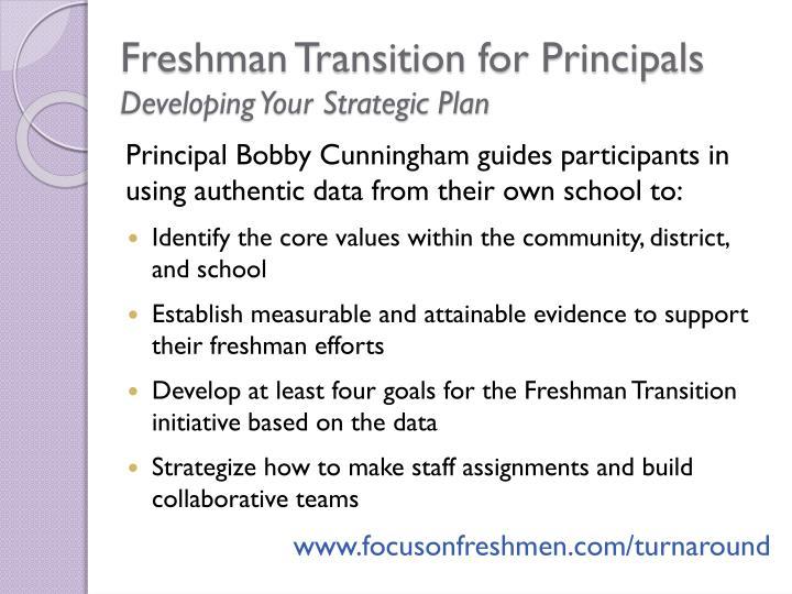 Freshman Transition for Principals