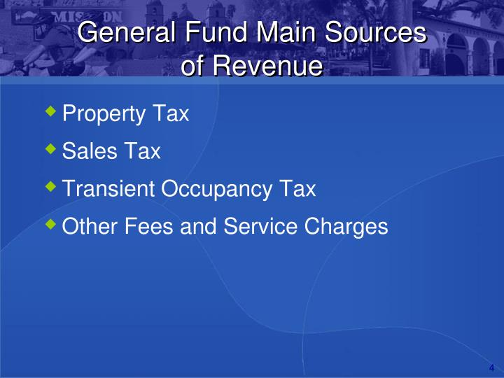 General Fund Main Sources