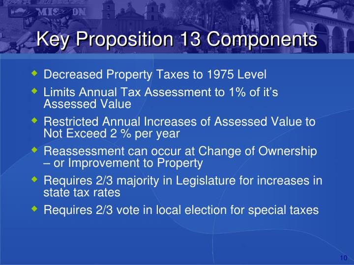 Key Proposition 13 Components