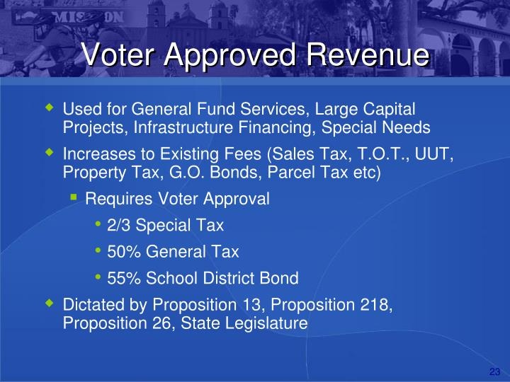 Voter Approved Revenue