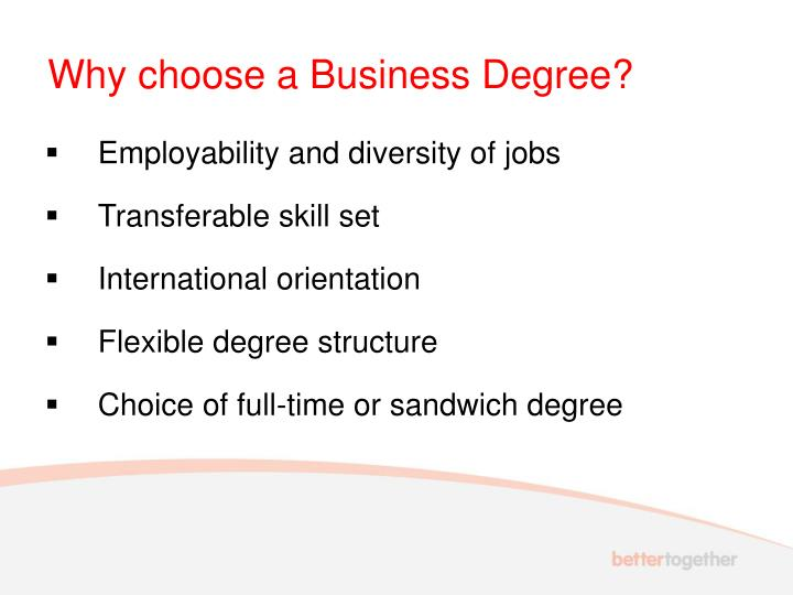 Why choose a business degree
