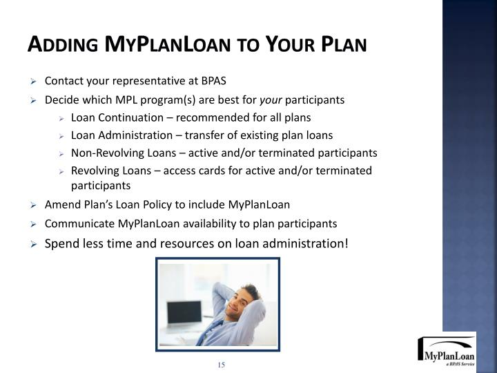 Adding MyPlanLoan to Your Plan