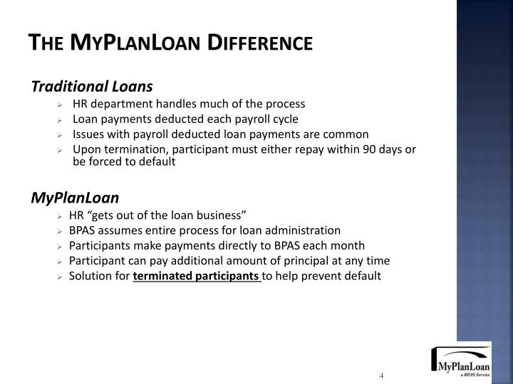 The MyPlanLoan Difference