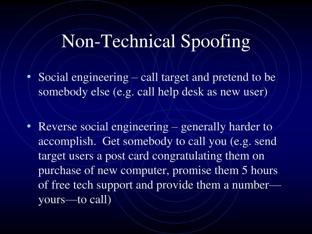PPT - Scanning and Spoofing PowerPoint Presentation - ID:1696965