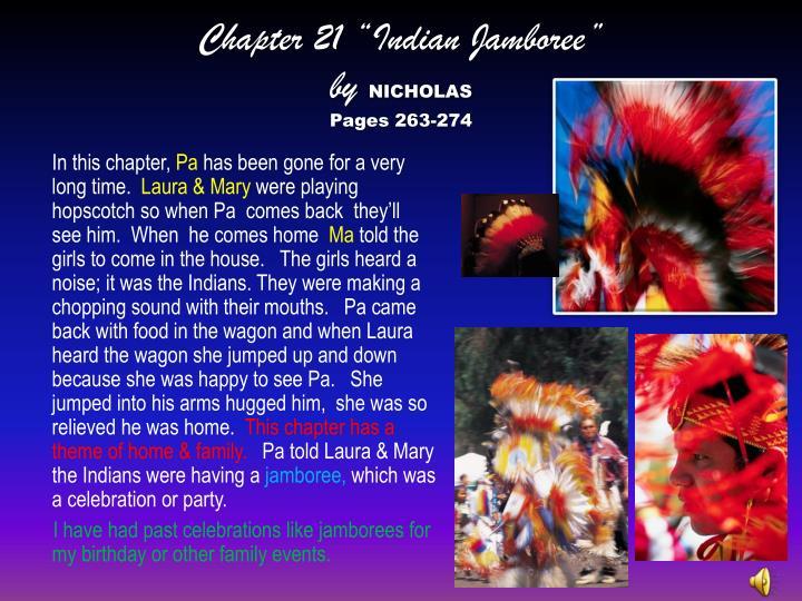 "Chapter 21 ""Indian Jamboree"""