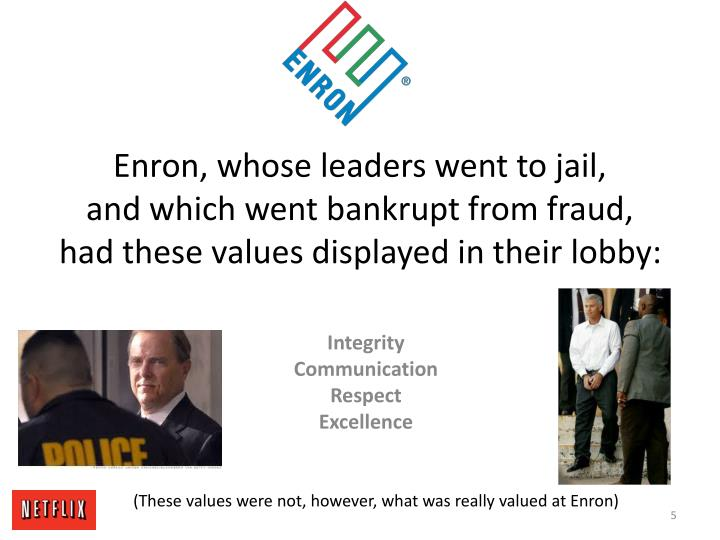 Enron, whose leaders went to jail,