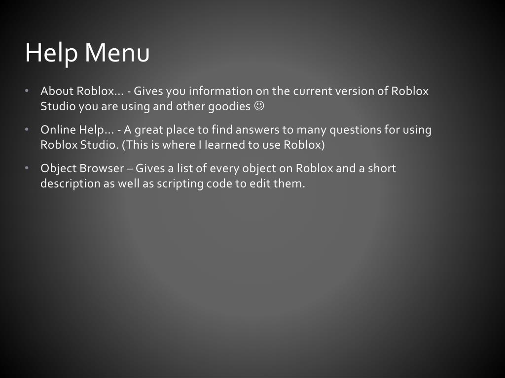 Ppt Complete Roblox Tutorial Part 2 Powerpoint Presentation