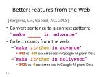 better features from the web