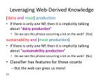 leveraging web derived knowledge