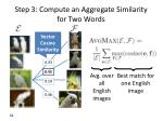 step 3 compute an aggregate similarity for two words
