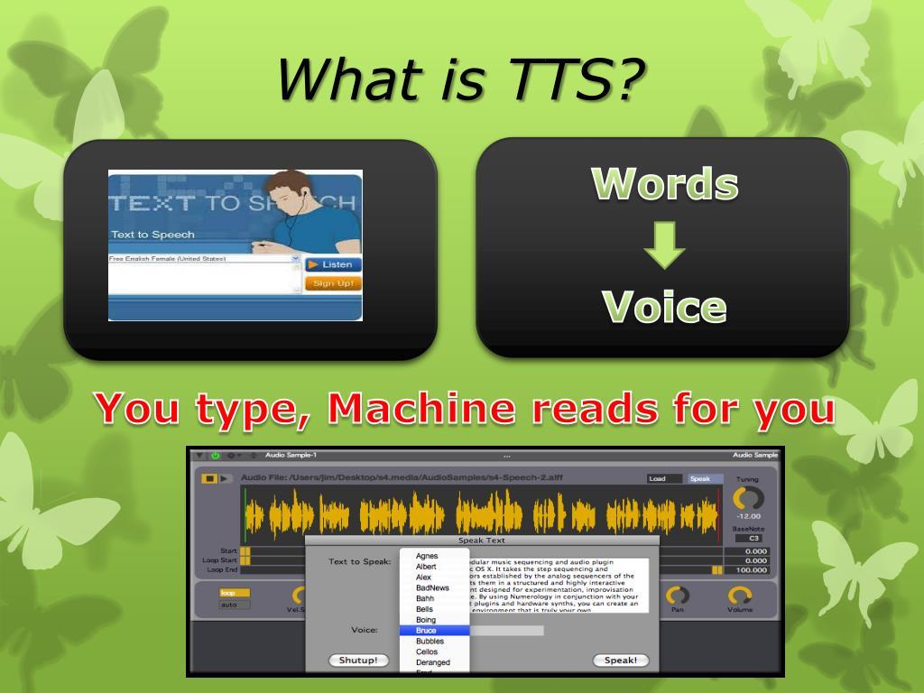 PPT - The Use of Text-to-Speech (TTS) Speech-to-Text (STT) Machine