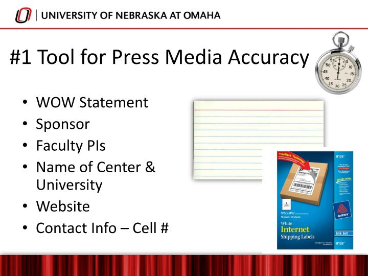 #1 Tool for Press Media Accuracy