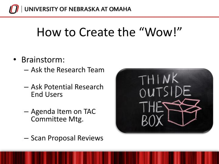 "How to Create the ""Wow!"""