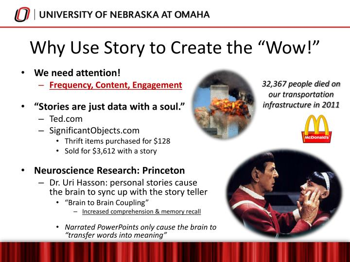 "Why Use Story to Create the ""Wow!"""