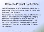 cosmetic product notification30