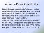 cosmetic product notification32