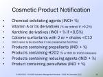 cosmetic product notification34
